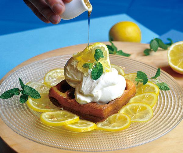 蜂蜜檸檬とレアチーズのモッフル