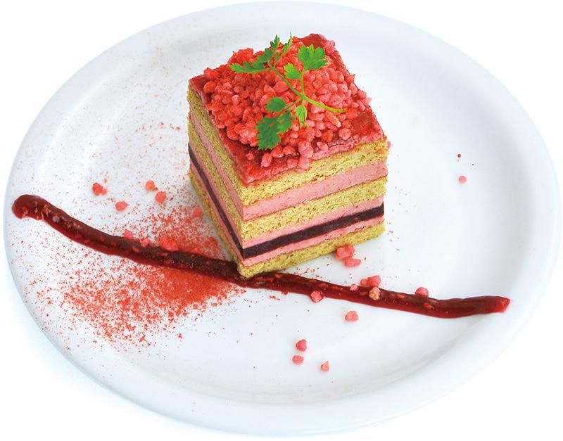 木苺とアールグレイのケーキ