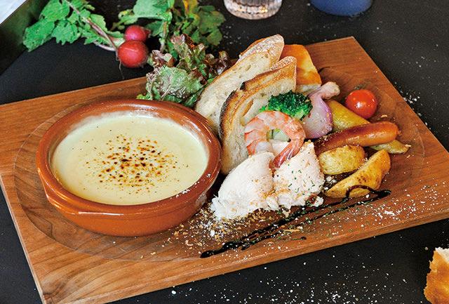 大山鶏とたっぷり食材のチーズフォンデュプレート